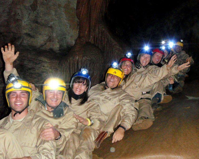 Espeleología cueva Cirá 3 rampa