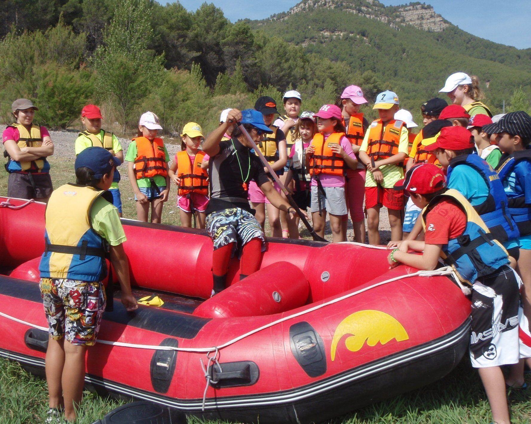 Rafting con escolares en Montanejos 1