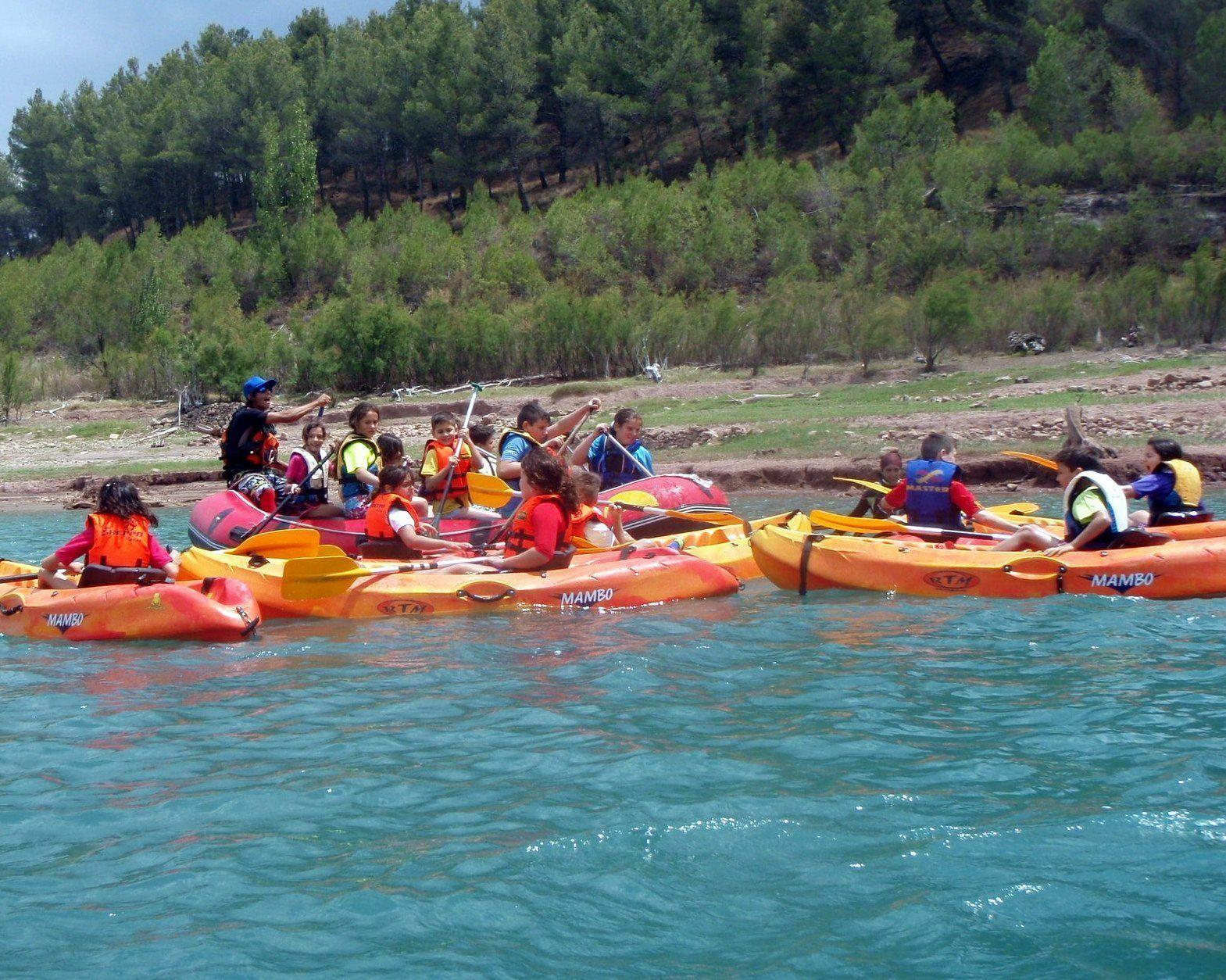 Kayak y Rafting con escolares 2