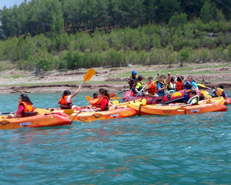 Kayak y Rafting con escolares