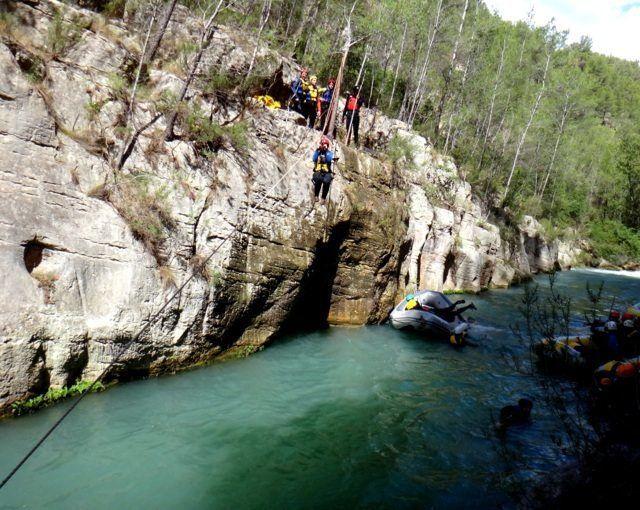 Rafting Barranquismo Tirolina