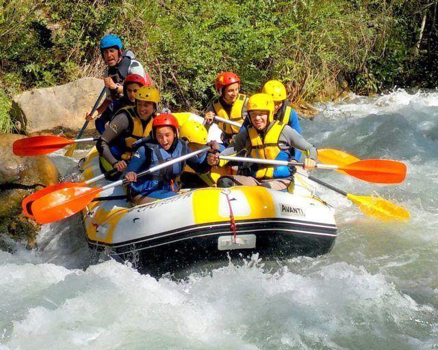 Rafting viajes escolares