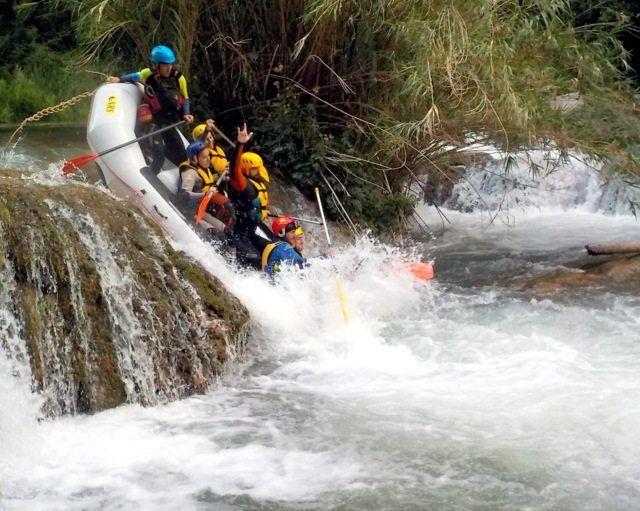 Rafting Montanejos ultimo salto
