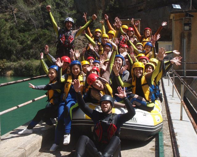 Rafting Valencia grupos