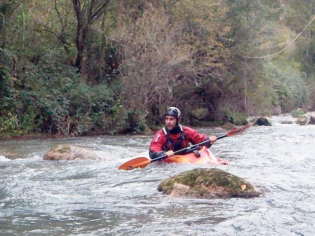 Alfredo kayaking